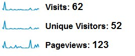 1 Month Website Traffic Statistics Before Adding Blog