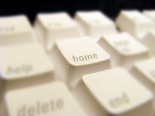 Close Up of the Home Key on a Keyboard