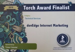 2016 BBB Torch Award in Technical Services