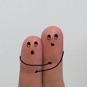 Fingers Hugging Together