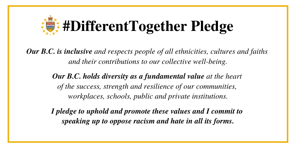 The #DifferentTogether Pledge - Transcript Below
